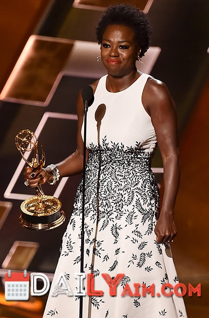 Viola Davis becomes 1st black woman to win Emmy award