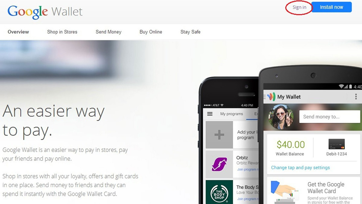 google wallet sign up