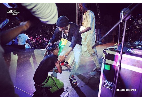 Wizkid on the stage show