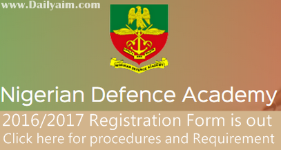 2O16/17 NDA Postgraduate Admission Form and Online Registration