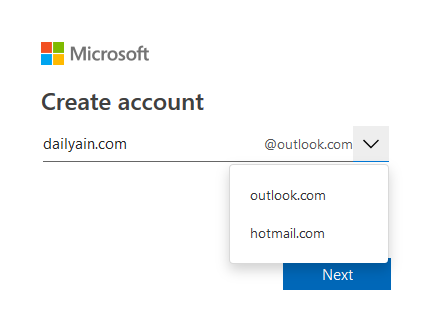 Create Hotmail Email Account