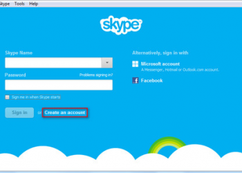 Create New Account In Skype