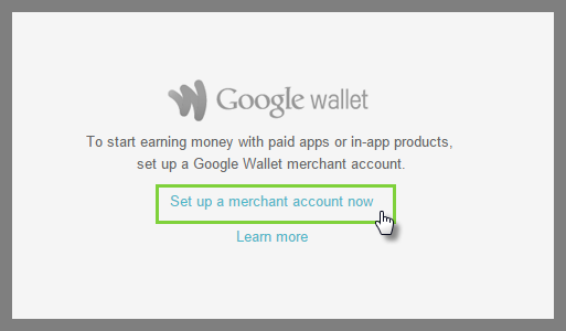 Click set up a merchant account now