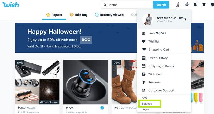 Wish.com Shop image