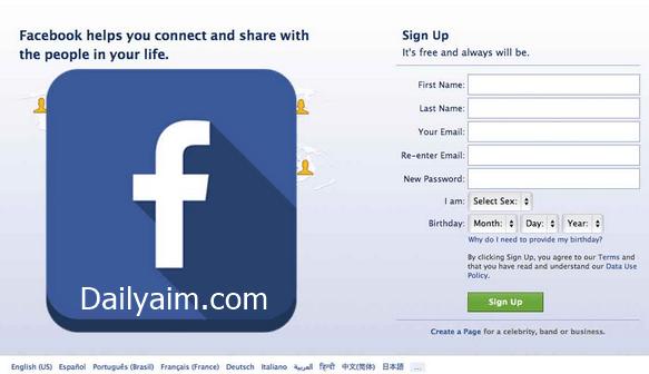 Facebook Sign Up For