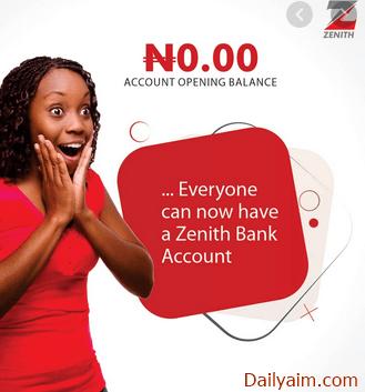 Zenith Bank Account Opening | Open an Account Online