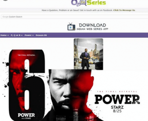 O2TvSeries Power