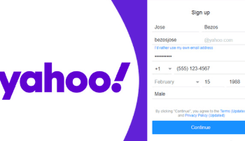 Creation of Yahoo Account